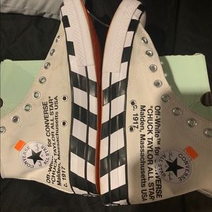 Off white converse. Used